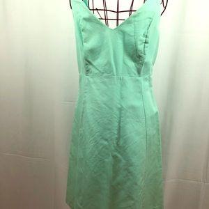 J. Crew mint green cotton V neck dress 10